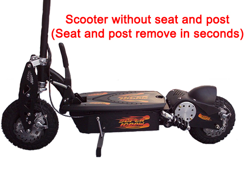 Scooter without seat and post
