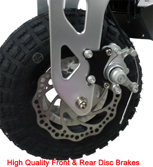 High quality front and rear disc brakes
