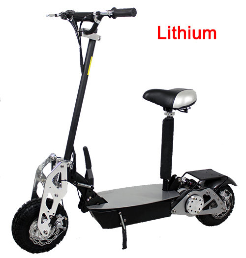Super Turbo Chrome 1200watt Lithium Electric Scooter