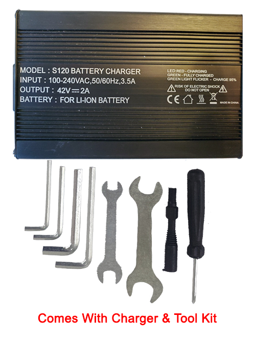 Tool kit and Lithium Charger Included