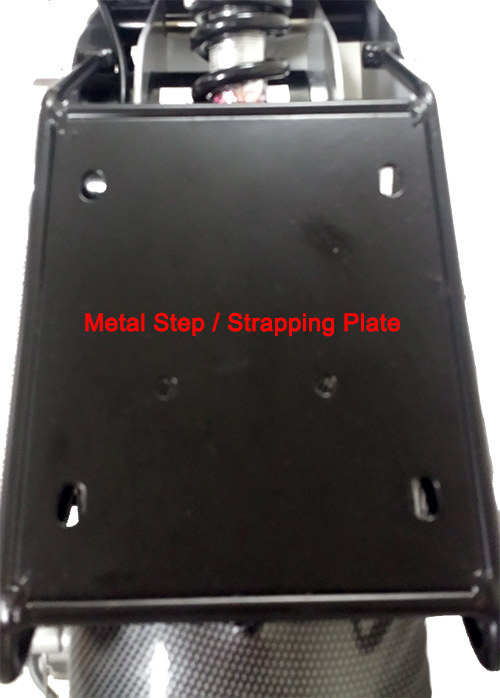 Metal step or strapping plate