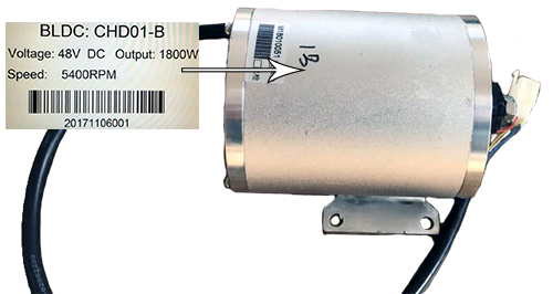 1800 watt Brushless 48v Electric Motor