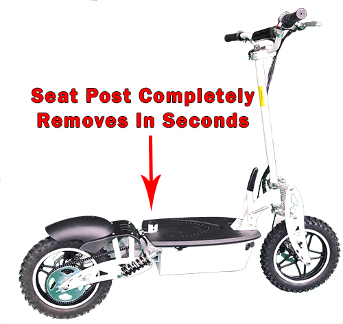 Seat post completely removes in seconds