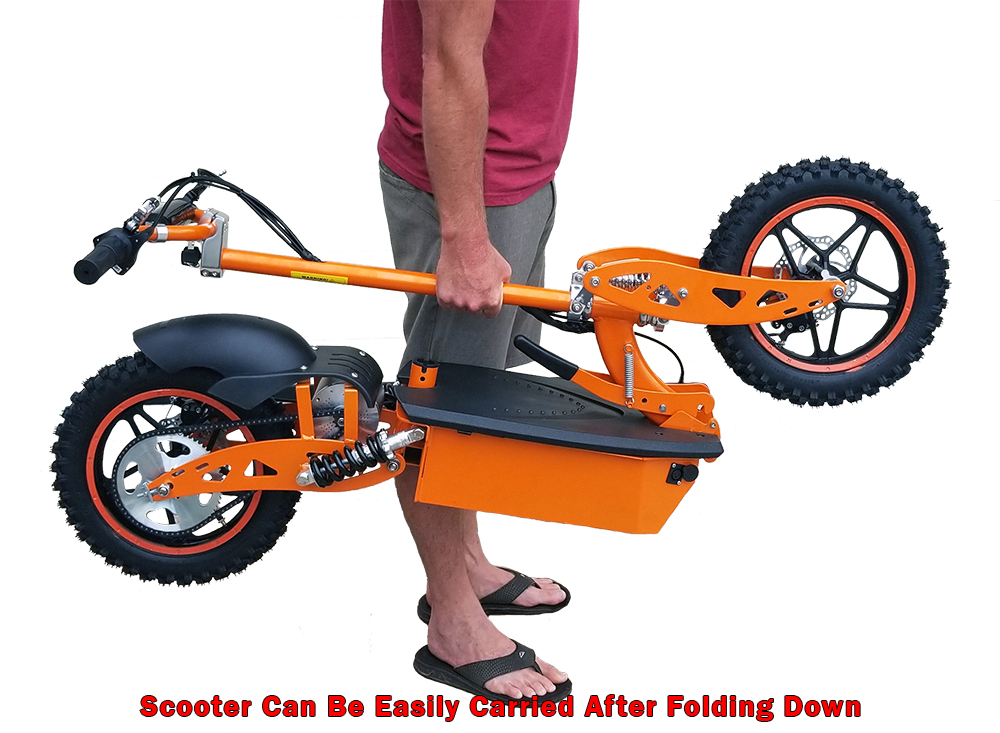 Scooter can be easily carried.