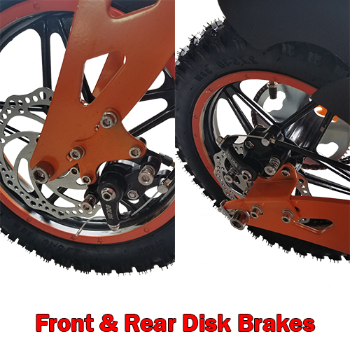 Front and rear disk brakes
