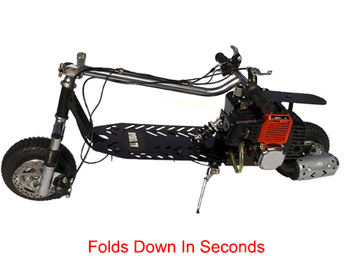 Folds down in seconds