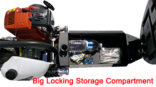 Big locking storage compartment