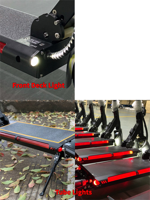 Urban 600watt 48v Lithium Smart Electric Scooter lights