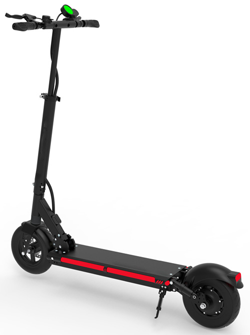 Urban 600watt 48v Lithium Max X9 Electric Scooter left rear view