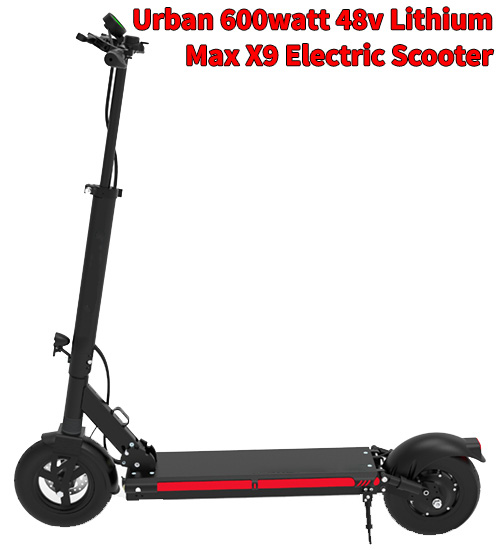 Urban 600watt 48v Lithium Max X9 Smart Electric Scooter