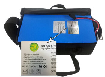 Lithium Battery Pack 36v 16a