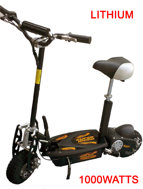 Super TURBO Lithium 1000 watt Electric Scooter