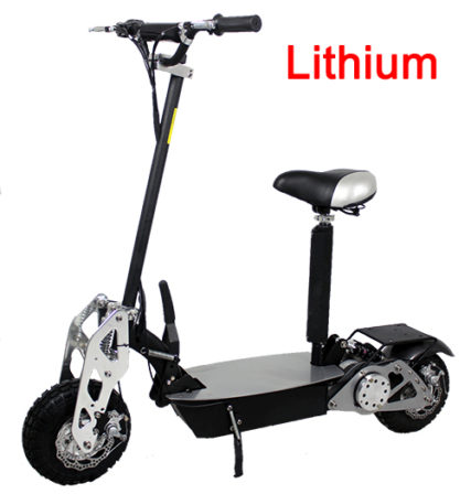 Super Chrome 1200 watt Lithium Electric Scooter