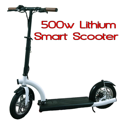 smart urban 500 watt lithium electric scooter scooter. Black Bedroom Furniture Sets. Home Design Ideas