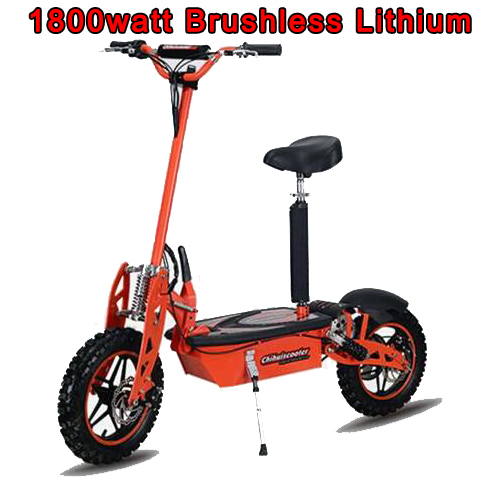 1800 watt Brushless Lithium Electric Scooter