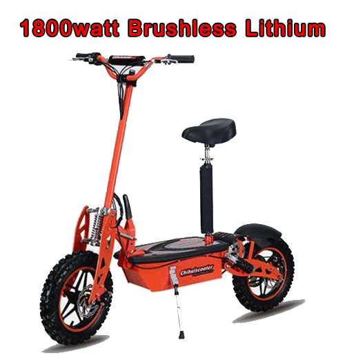 Electric Sit Down Scooter >> Super Turbo 1800 Watt 48v Brushless Lithium Electric Scooter