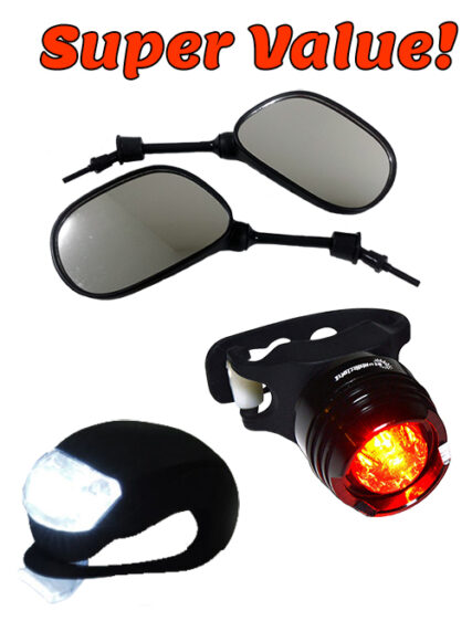 Mirrors & safety light package