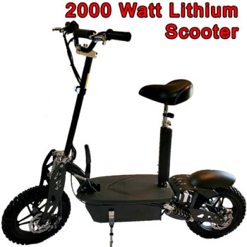 Urban Elite 2000 Watt LITHIUM Brushless Electric Scooter