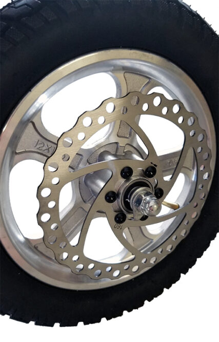 Complete Assembled Front Wheel w/Axle Assembly